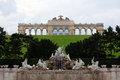 Gloriette schonbrunn palace garden vienna austria the arches and fountain in the park Stock Image