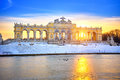 Gloriette at winter schonbrunn palace vienna Royalty Free Stock Photo