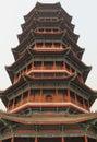 Glorious pagoda in buddhism temple jiaozhou china Stock Photos