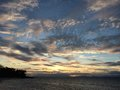 Glorious sunset panglao island bohol philippines on the north west beach of Royalty Free Stock Image
