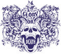 Glory or death vector illustration ideal for printing on apparel clothing Royalty Free Stock Photography