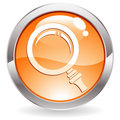 Gloss Button with magnifier Stock Photos