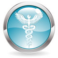 Gloss Button with Medical sign Royalty Free Stock Photography
