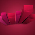Glossy abstract column graph in red shades vector illustration Royalty Free Stock Photos