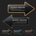 Glossy arrow Royalty Free Stock Photo