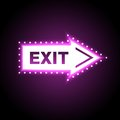 Glossy arrow with exit message Stock Photo