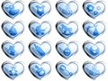 Glossy baby buttons for a boy Royalty Free Stock Photo