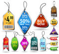 Glossy badges and sale tags. Stock Photography