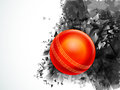 Glossy Ball for Cricket Sports concept. Royalty Free Stock Photo