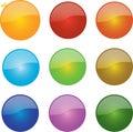 Glossy Ball Icons Royalty Free Stock Photo