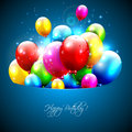 Glossy birthday background Royalty Free Stock Photos