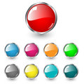 Glossy blank web buttons Royalty Free Stock Photo