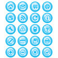 Glossy blue icon set for web Royalty Free Stock Photos