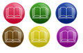 Glossy Book Button Stock Photo
