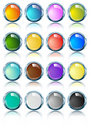 Glossy Bright chrome ovals in various colors Royalty Free Stock Photos