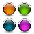Glossy button Stock Photography