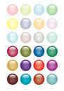 Glossy Button Set Royalty Free Stock Photo