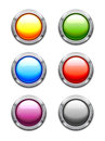 Glossy Buttons Stock Photos