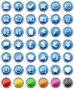 Glossy Buttons Icons Set [2] Royalty Free Stock Photo