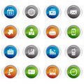 Glossy buttons - Office and Business icons Royalty Free Stock Image