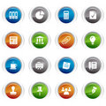 Glossy buttons - Office and Business icons Stock Image