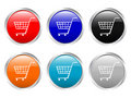 Glossy buttons shopping cart Royalty Free Stock Photo