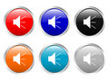 Glossy buttons sound Royalty Free Stock Images