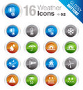 Glossy Buttons - Weather Icons Royalty Free Stock Photography