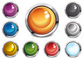 Glossy color buttons Royalty Free Stock Images