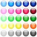 Glossy color buttons Royalty Free Stock Photo
