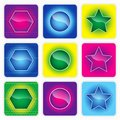 Glossy color web buttons Stock Photos