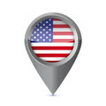Glossy colorful usa map application point symbol illustration design Stock Images