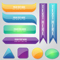 Glossy Colorful vector Banner Design