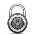 Glossy combination lock security vector illustration of padlock Royalty Free Stock Photos