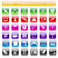 Glossy Communication Button Royalty Free Stock Photo