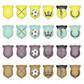 Glossy Crest Icon Set Royalty Free Stock Images