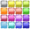 Glossy decorated web buttons Stock Photography