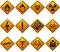 Glossy Diamond Hazard Signs Royalty Free Stock Photo