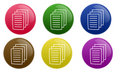 Glossy Document Button Royalty Free Stock Photo