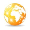 Glossy earth icon Royalty Free Stock Photo