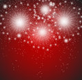 Glossy fireworks background vector illustration this is file of eps format Stock Image