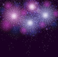 Glossy fireworks background vector illustration this is file of eps format Royalty Free Stock Images