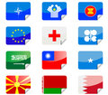 Glossy flags Royalty Free Stock Photos