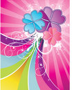Glossy flower vector Stock Photo