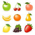 Glossy fruit set Royalty Free Stock Photography