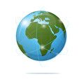 Glossy globe icon global communication concept vector illustration Stock Photography