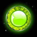Glossy green button Stock Photo