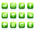 Glossy green icons Royalty Free Stock Photography