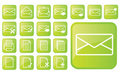Glossy green icons part3 Stock Photos