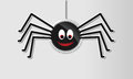 Glossy halloween spider Royalty Free Stock Photo
